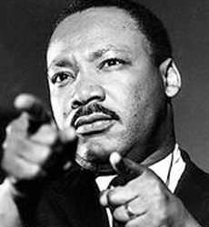 Martin Luther King, Jr. pointing picture